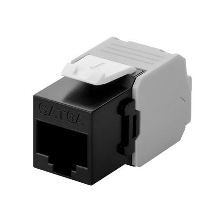 CAT6a UTP Keystone Connector - Toolless - Zwart