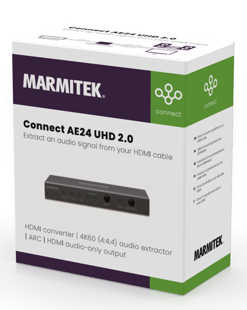 Marmitek Connect AE24 UHD 2.0 - HDMI 4K60 (4:4:4:) audio extractor met ARC